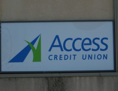 Access Credit Union sign